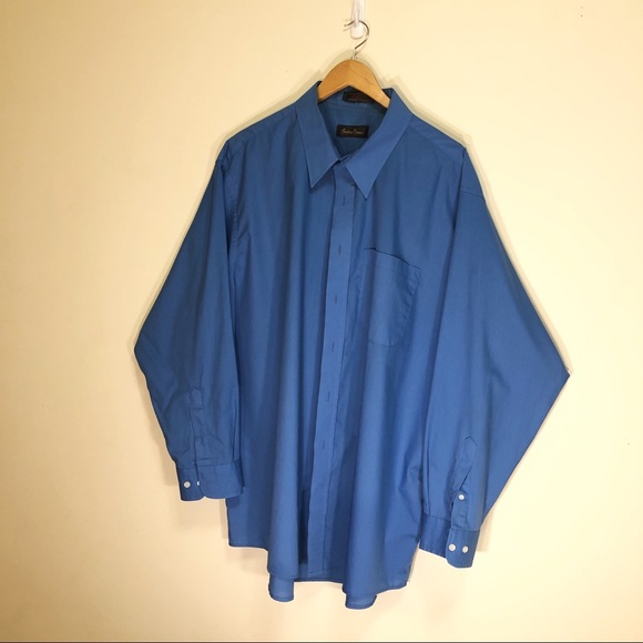 Christian Dumas Mens dress shirt Vintage blue19/35
